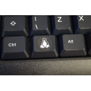Linux Tux Penguin Super key keyboard circle sticker