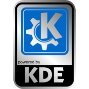 Aluminium KDE Case Badge sticker