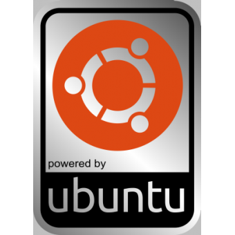 Aluminum UBUNTU Linux Case Badge Sticker