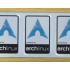 Aluminum Arch Linux Case Badge Sticker