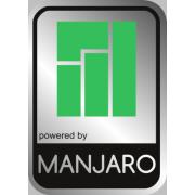 Aluminum Manjaro Linux Case Badge Sticker