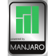 Aluminum Manjaro Linux Case Badge Sticker