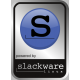 Aluminum Slackware Linux Case Badge Sticker