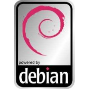 Aluminum Debian Case Badge Sticker